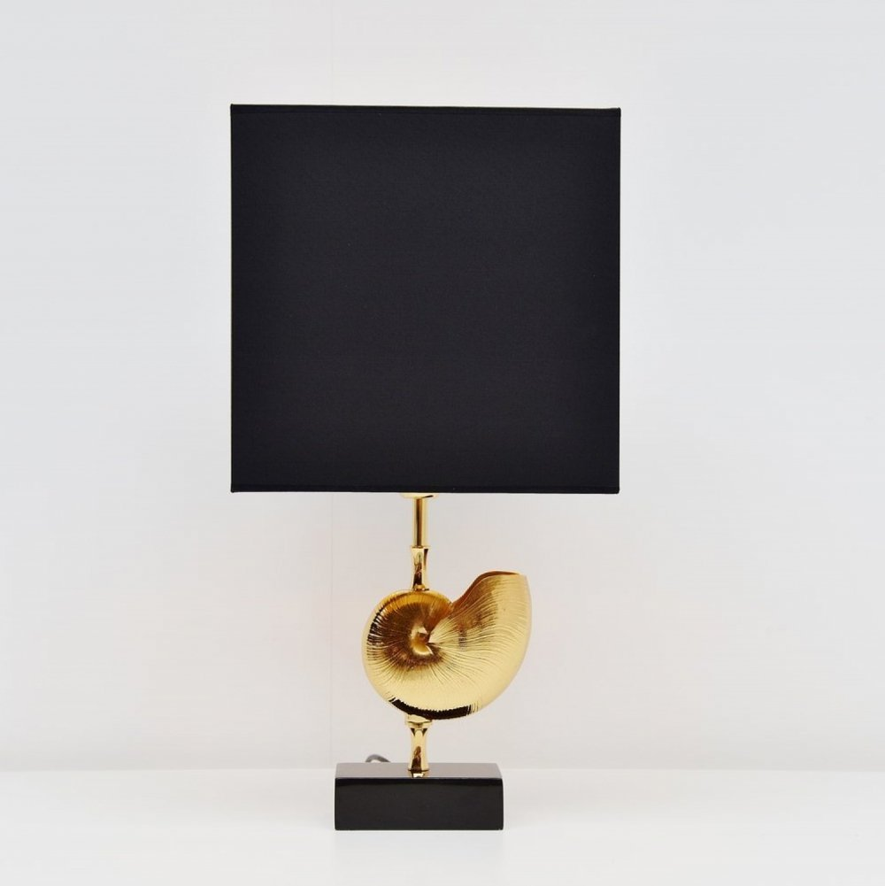 Maison Charles shell shaped table lamp, France 1970