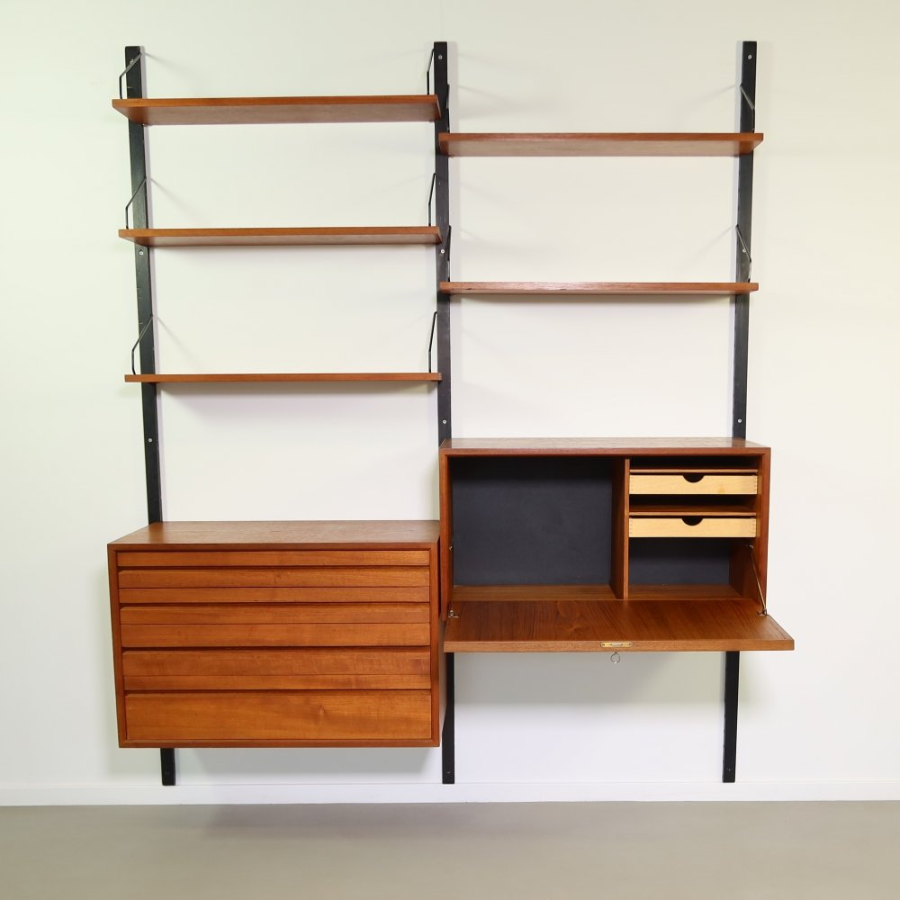 Teak wall unit by Poul Cadovius for Royal System, 1960