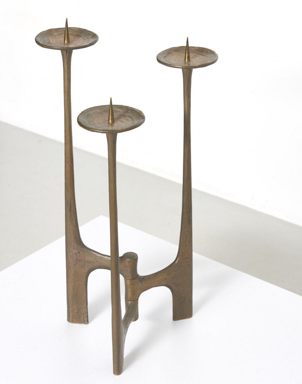 Brutalist Candle Holder by Michael Harjes, 1960