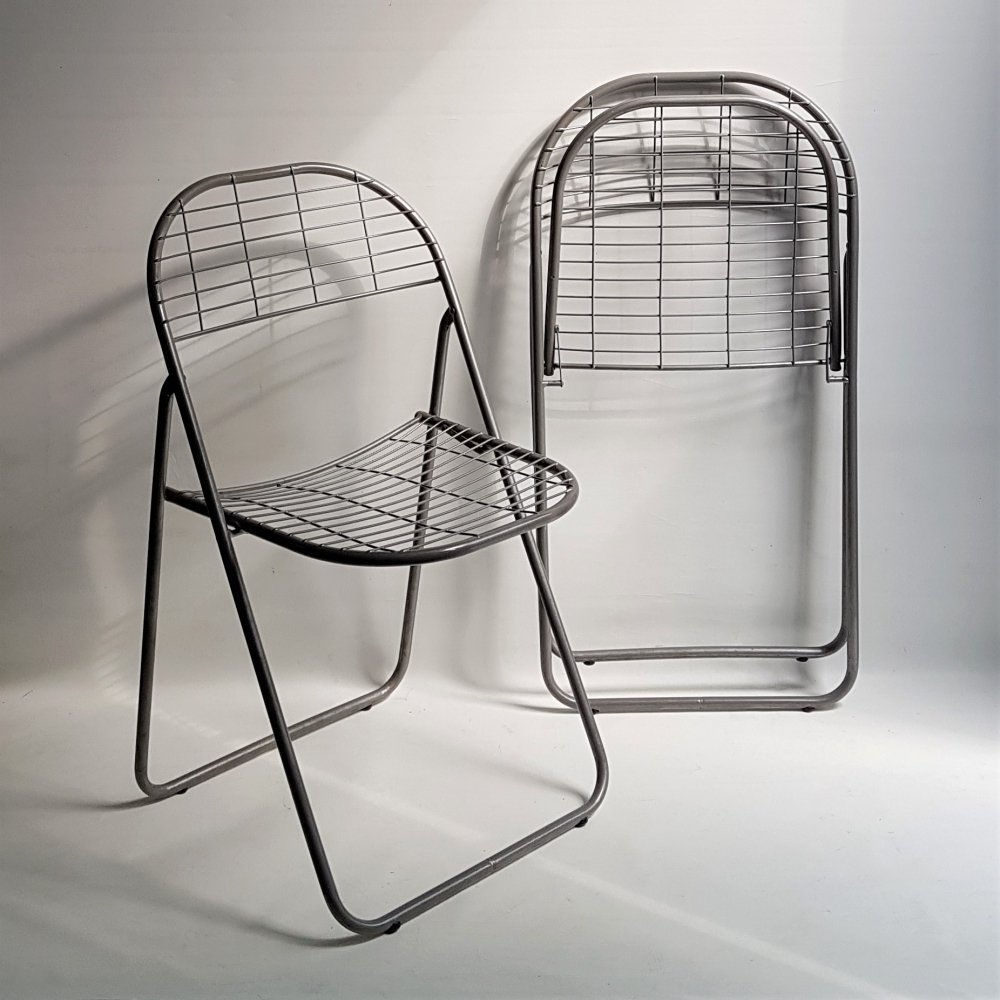 Pair of folding chairs by Niels Gammelgaard for Ikea, 1980s