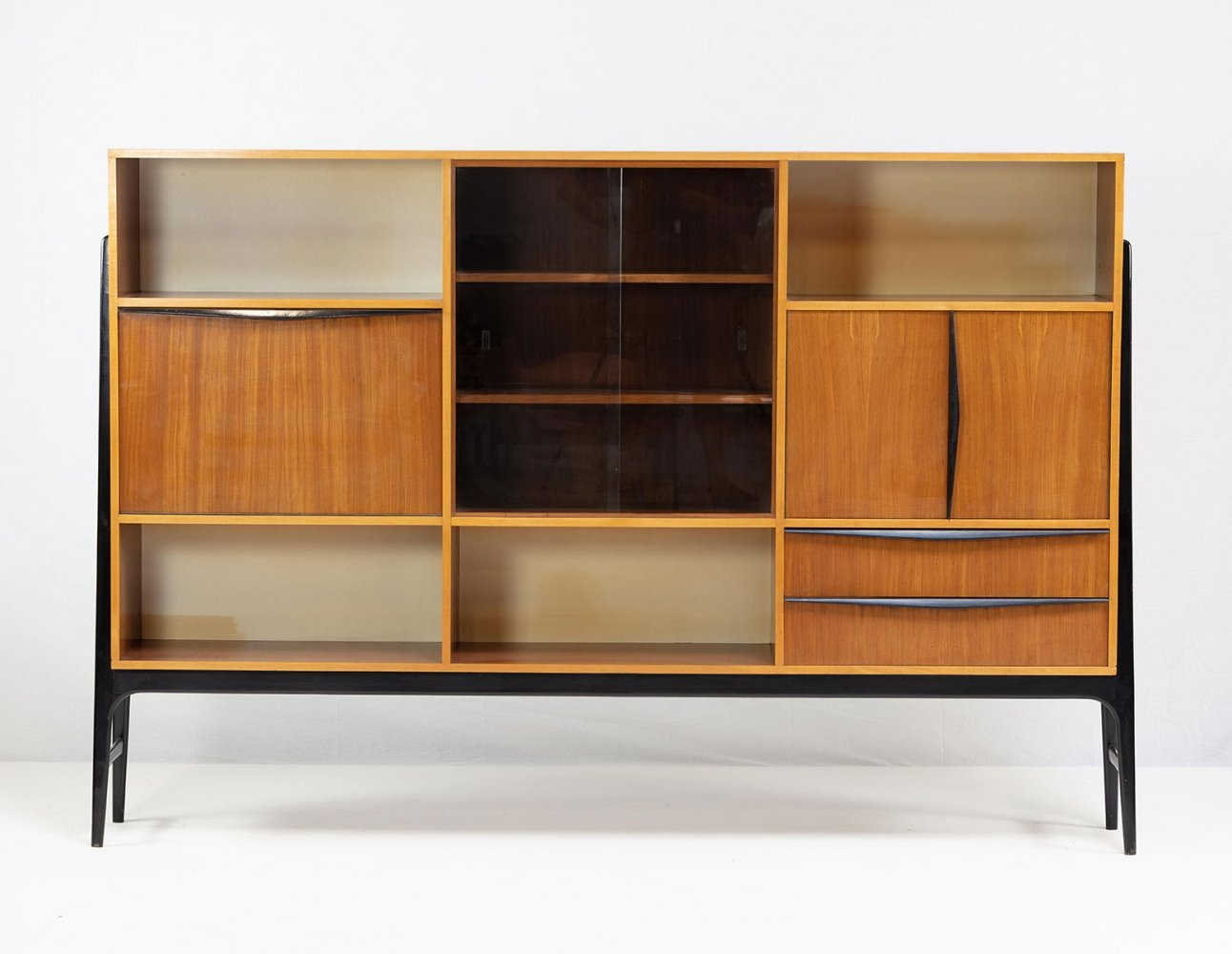 Exclusive large side board by Alfred Hendrickx for Belform, 1950s