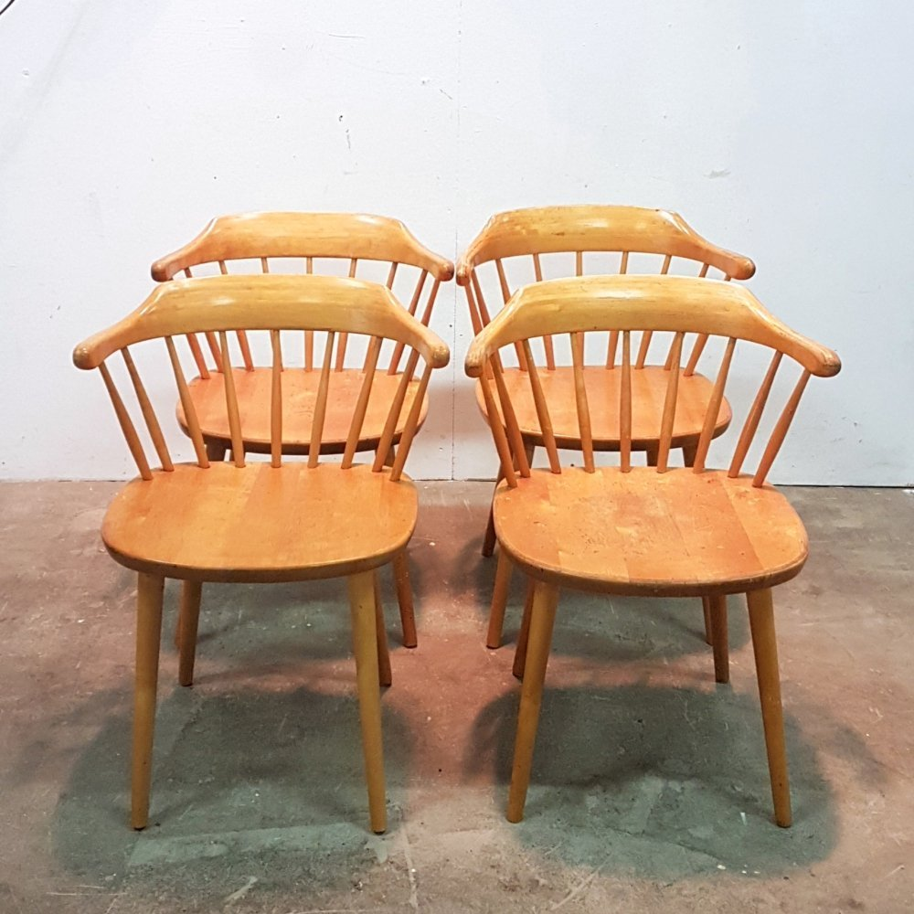 Set of 4 Småland dining chairs by Yngve Ekstrom for Stolab, Sweden 1960s