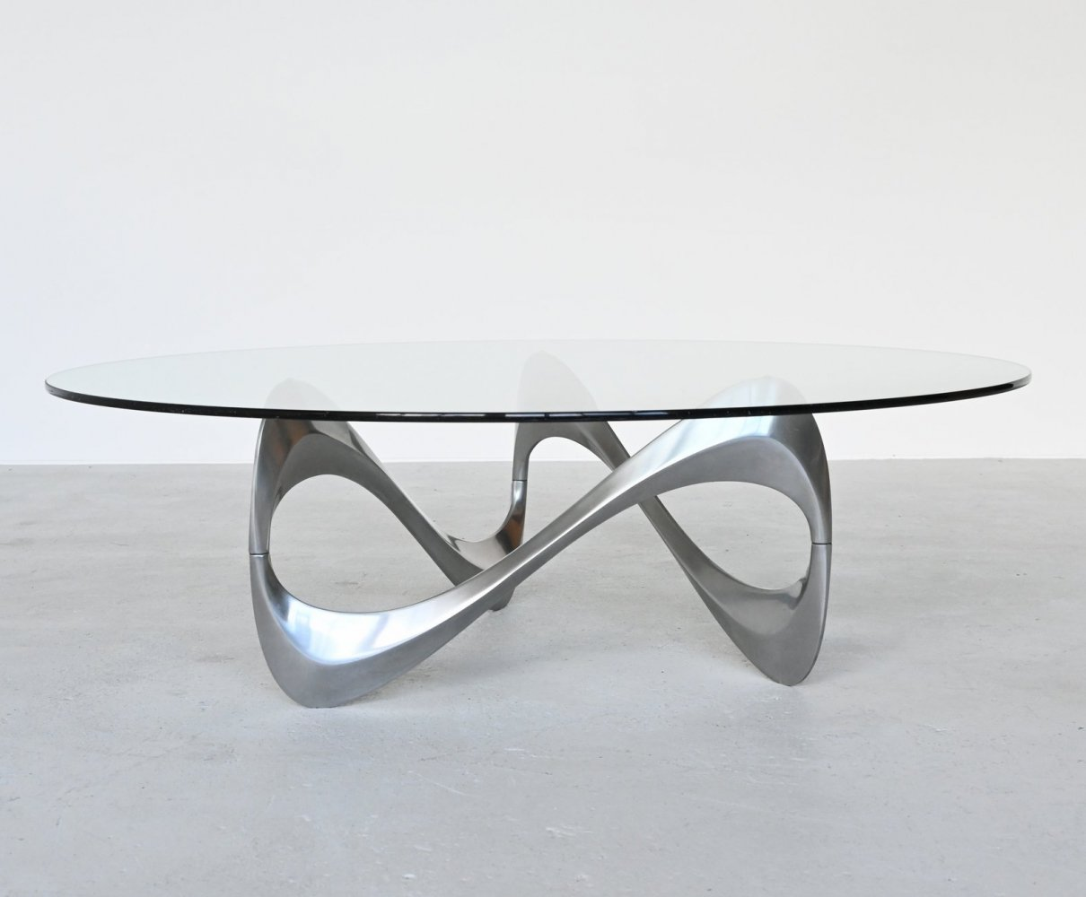 Knut Hesterberg Snake coffee table by Ronald Schmitt, Germany 1965