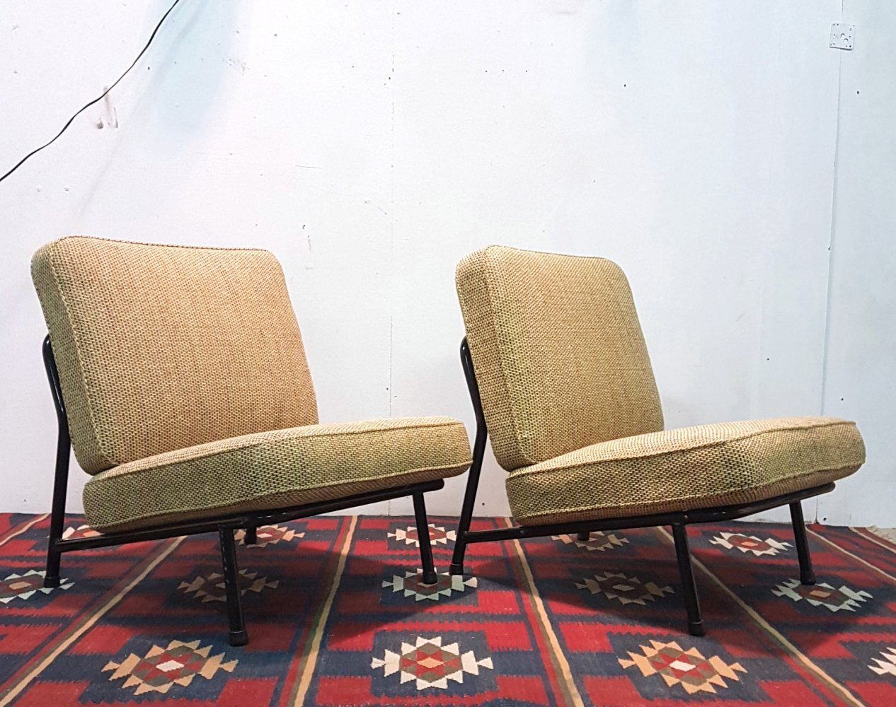 Scandinavian modern lounge chairs by Alf Svensson for DUX, Sweden 1960s