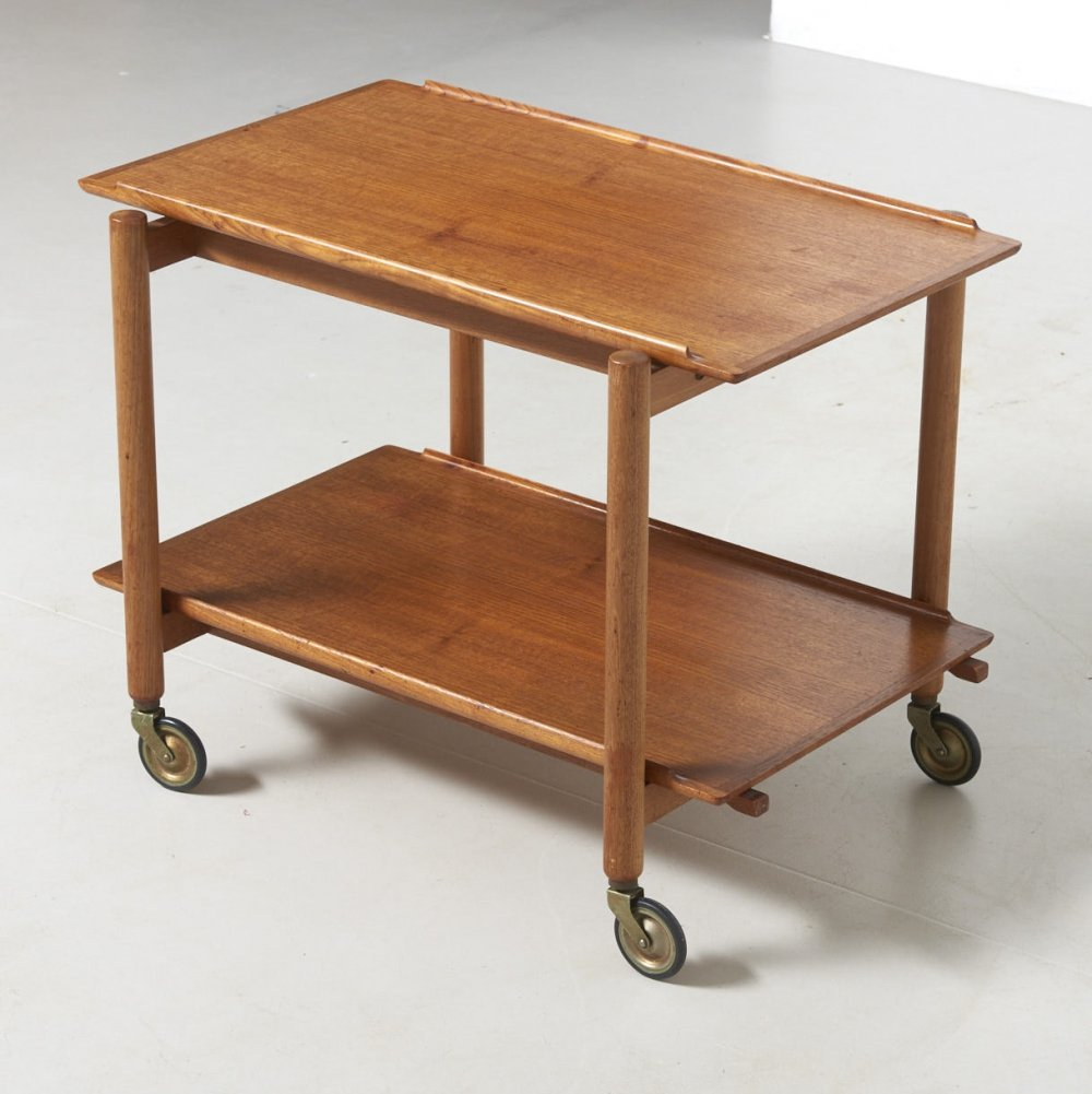 Trolley with Extendable tray by Poul Hundevad, Denmark 1960