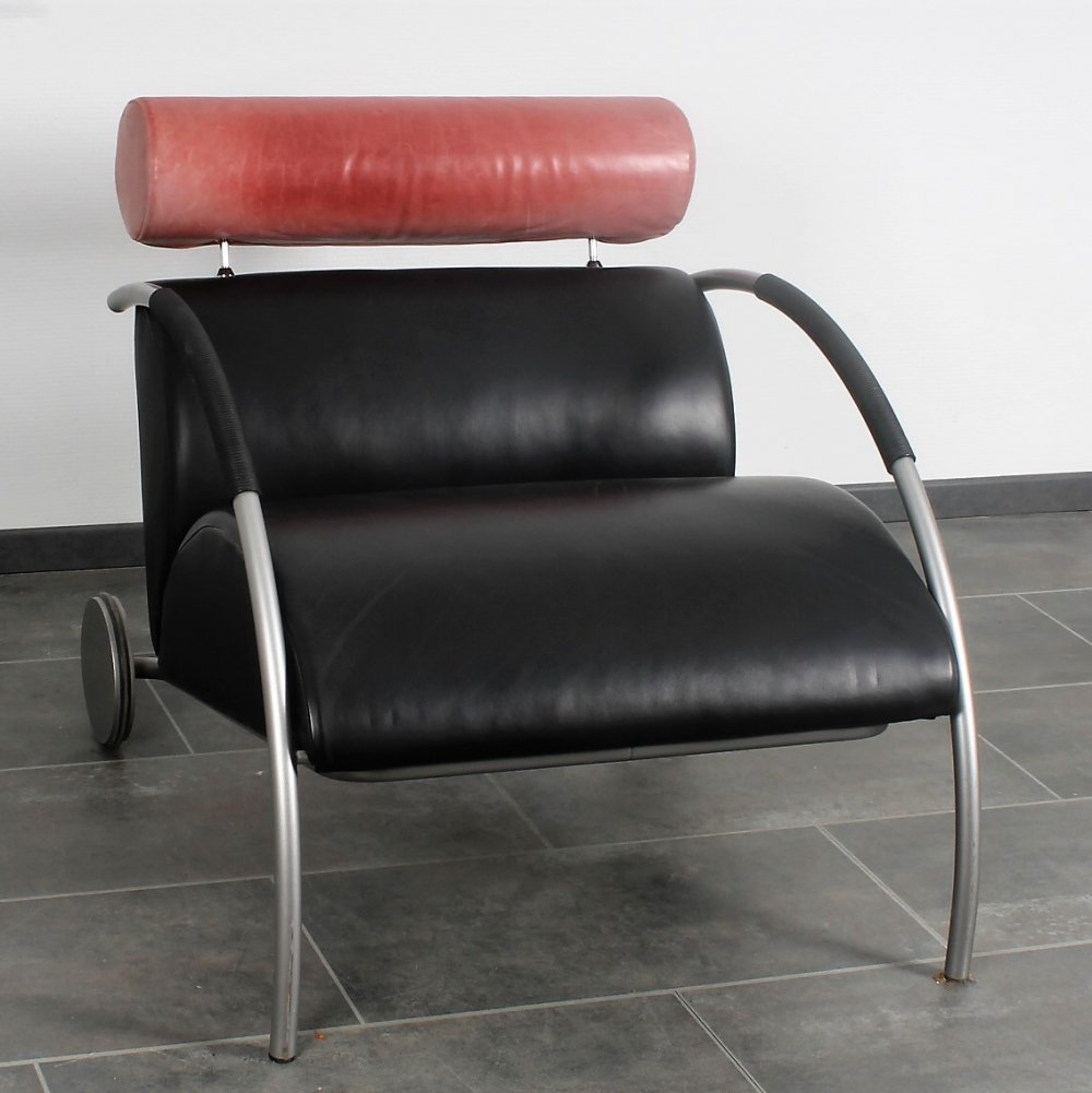 Leather Zyklus chair by Peter Maly for Cor, 1980