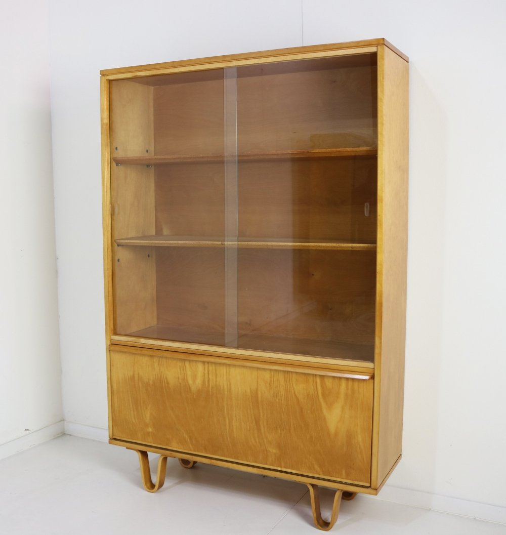 Cees Braakman bookcase with sliding glass-doors for UMS Pastoe