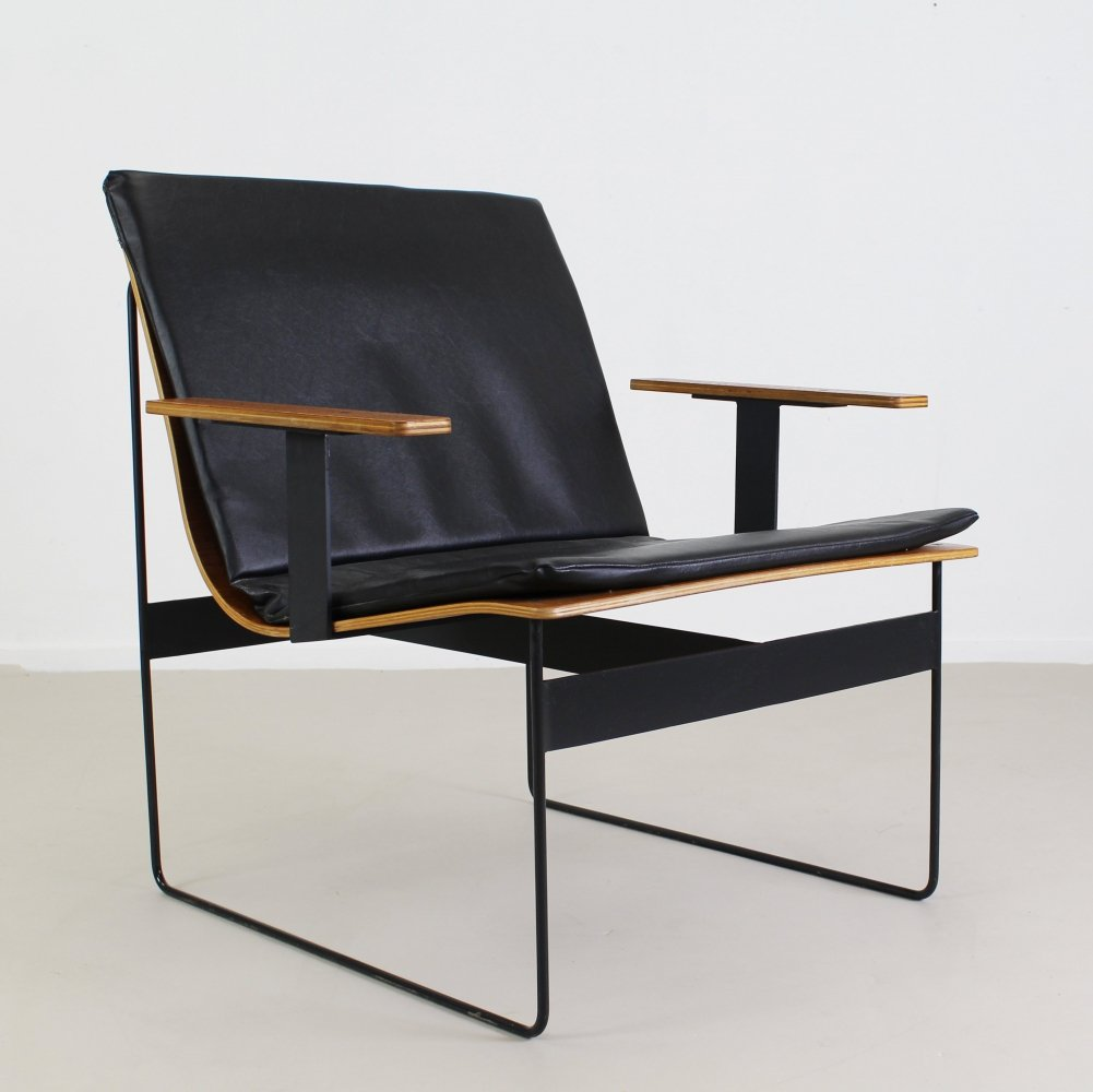 Plywood lounge arm chair by G. Renkel for Rego, 1959