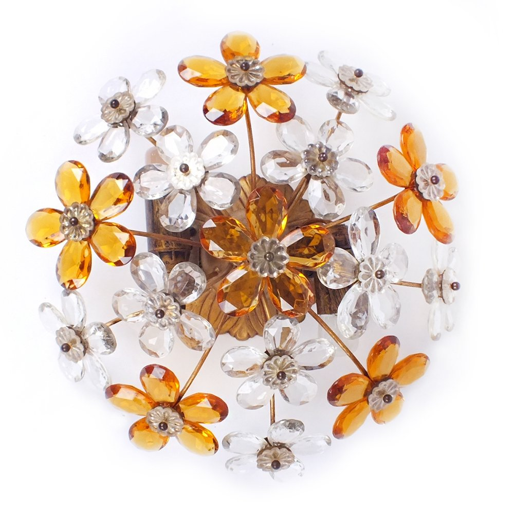 Flower wall lamp or ceiling lamp, 1960s