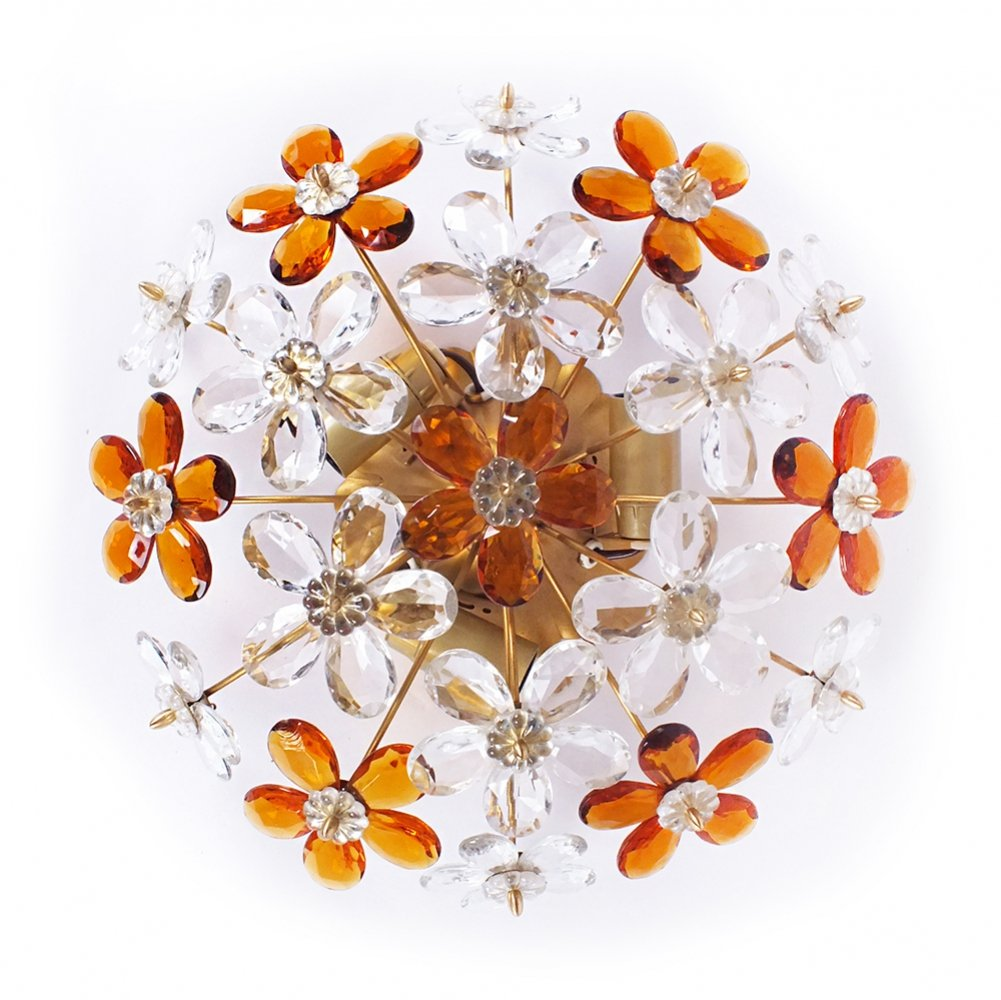 Floral wall lamp, 1960s