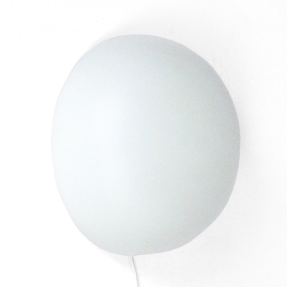50s Matte white glass wall or ceiling lamp