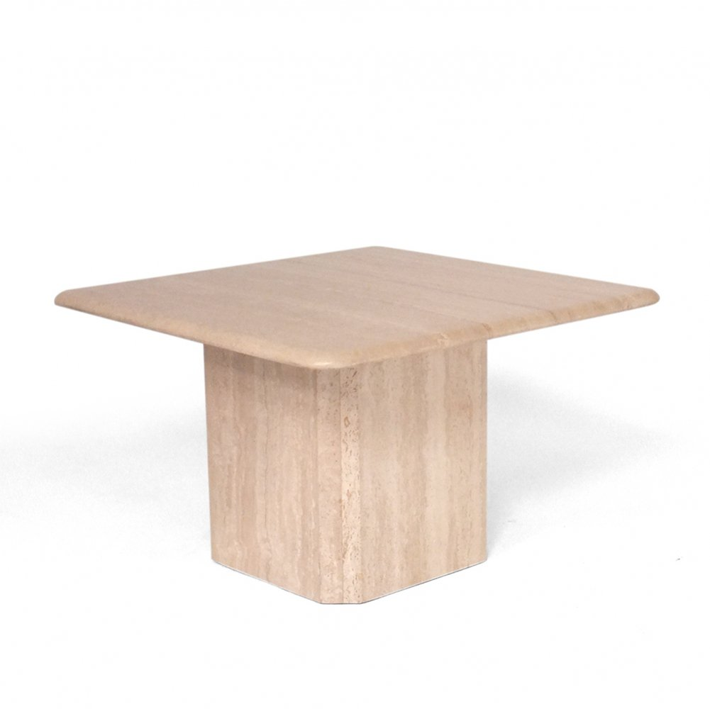 Travertine Side or coffee table, 1970s