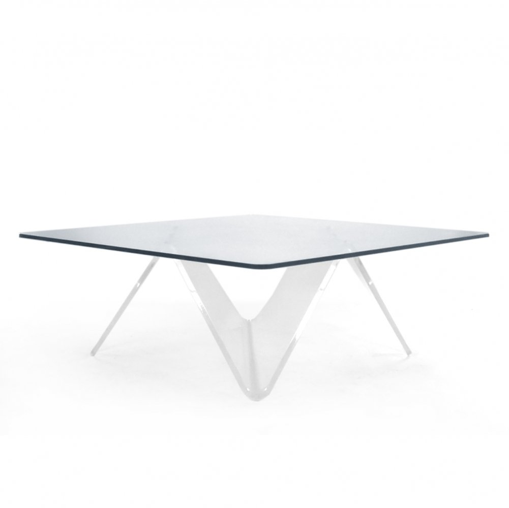 80s Glass coffee table by Hans Rosander & Lars Fritzell for Combiplex