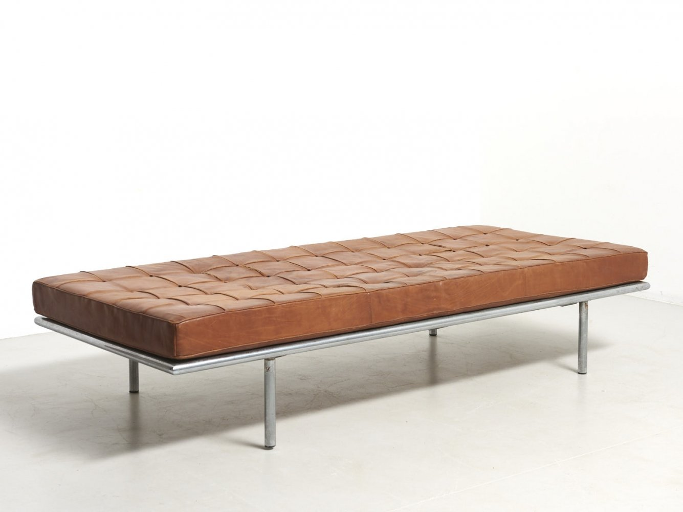 Rare Barcelona Daybed by Ludwig Mies van der Rohe for Knoll Int., Germany 1929