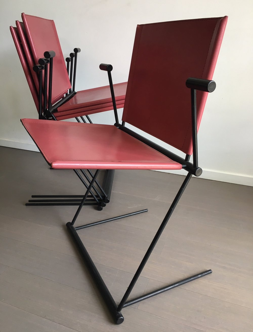 Set of 4 Ballerina dining chairs by Herbert Ohl for Matteo Grassi, 1990s