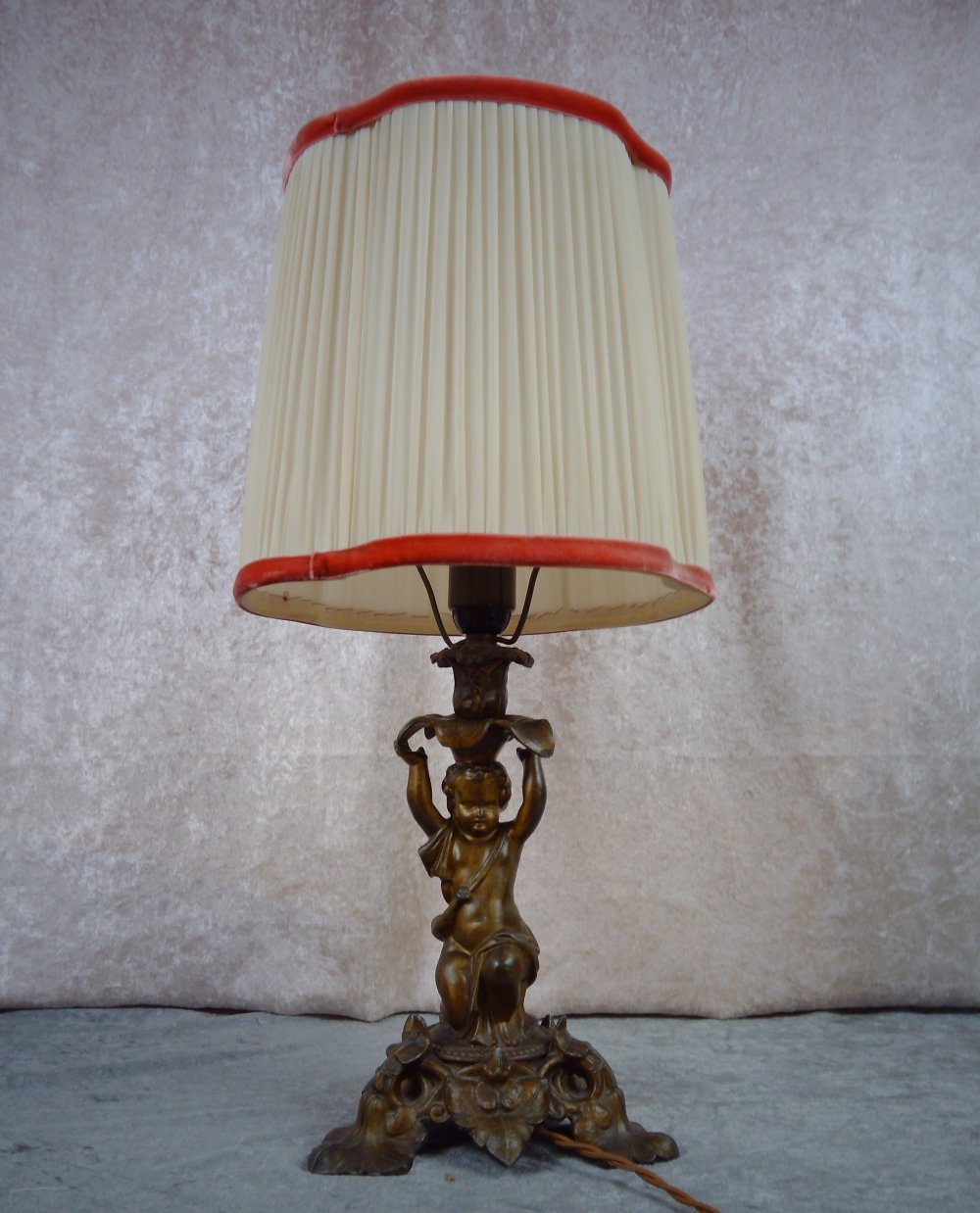 Midcentury cast iron Puti lamp, Sweden 1940s