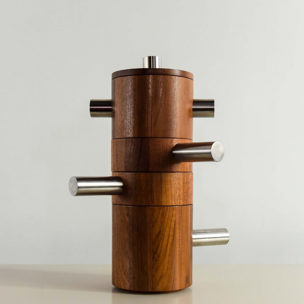 Stackable Combiwood dishes by Palle Pedersen for Lundtofte Denmark