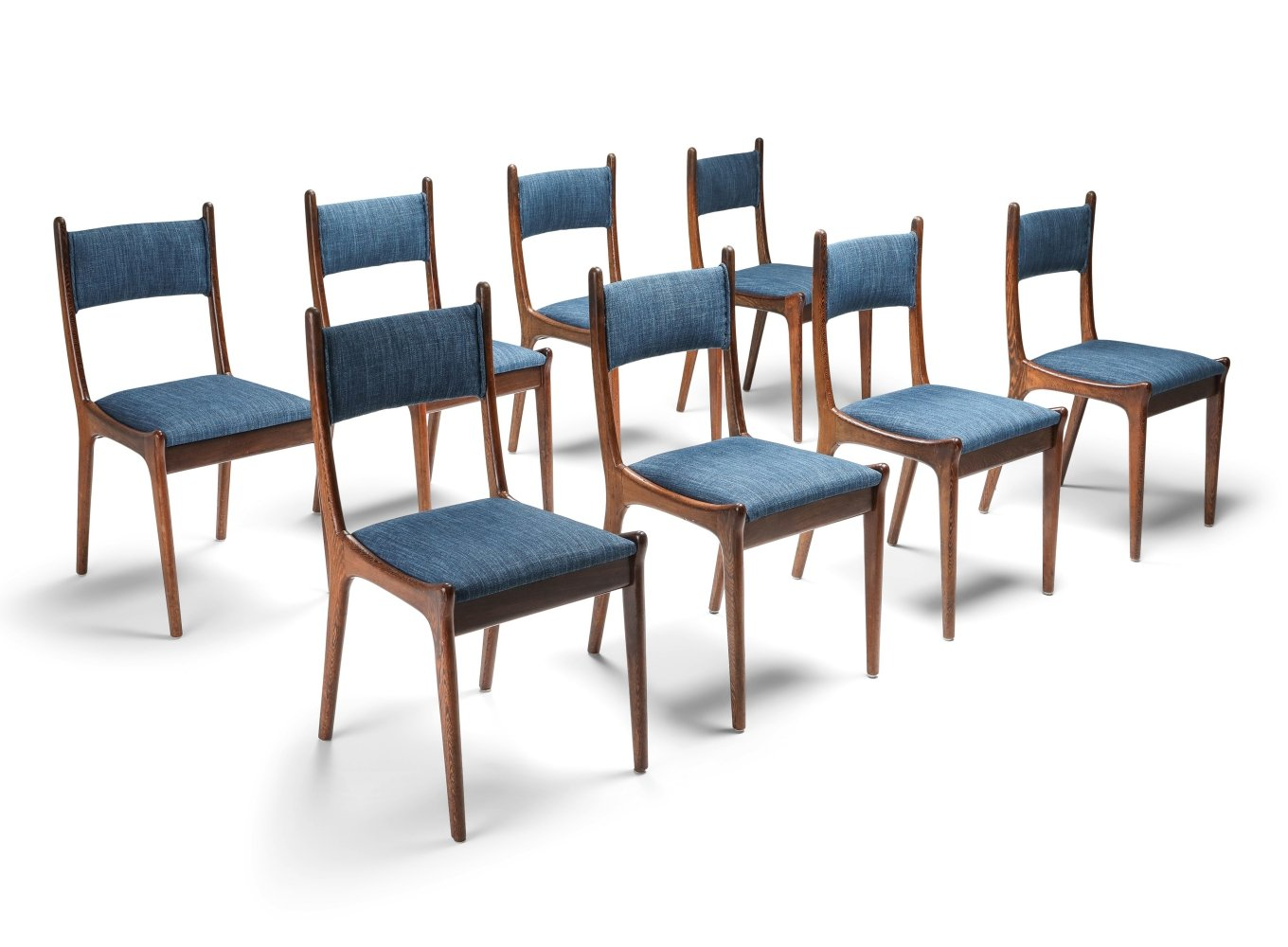Image of: Mid Century Modern Dining Chairs In Wenge Cherry 1960s 142477