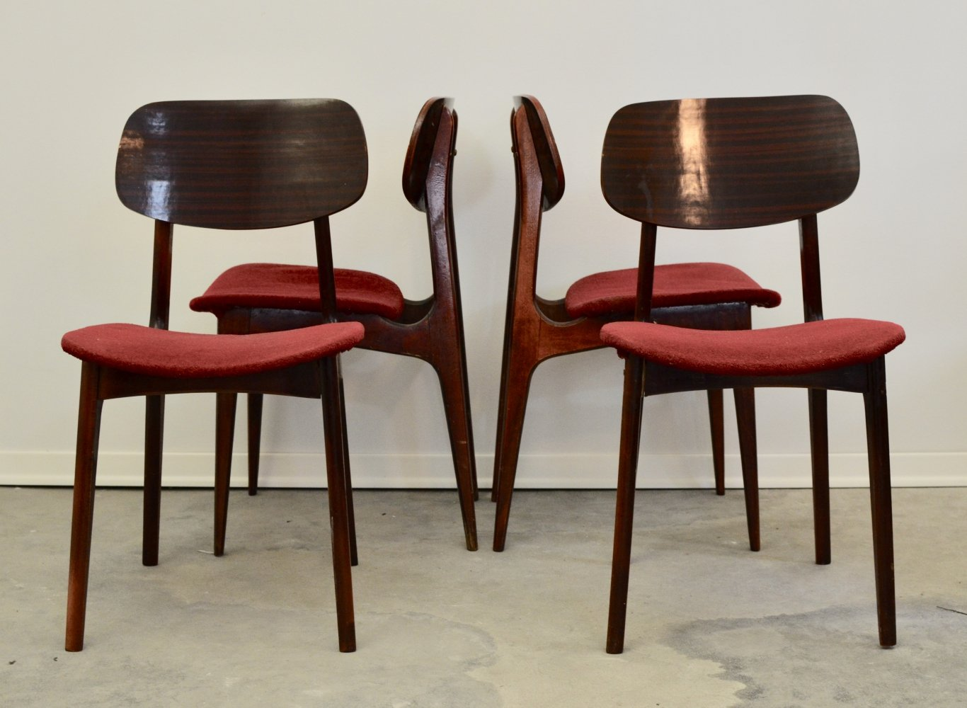 Set of 6 dining chairs, 1960s
