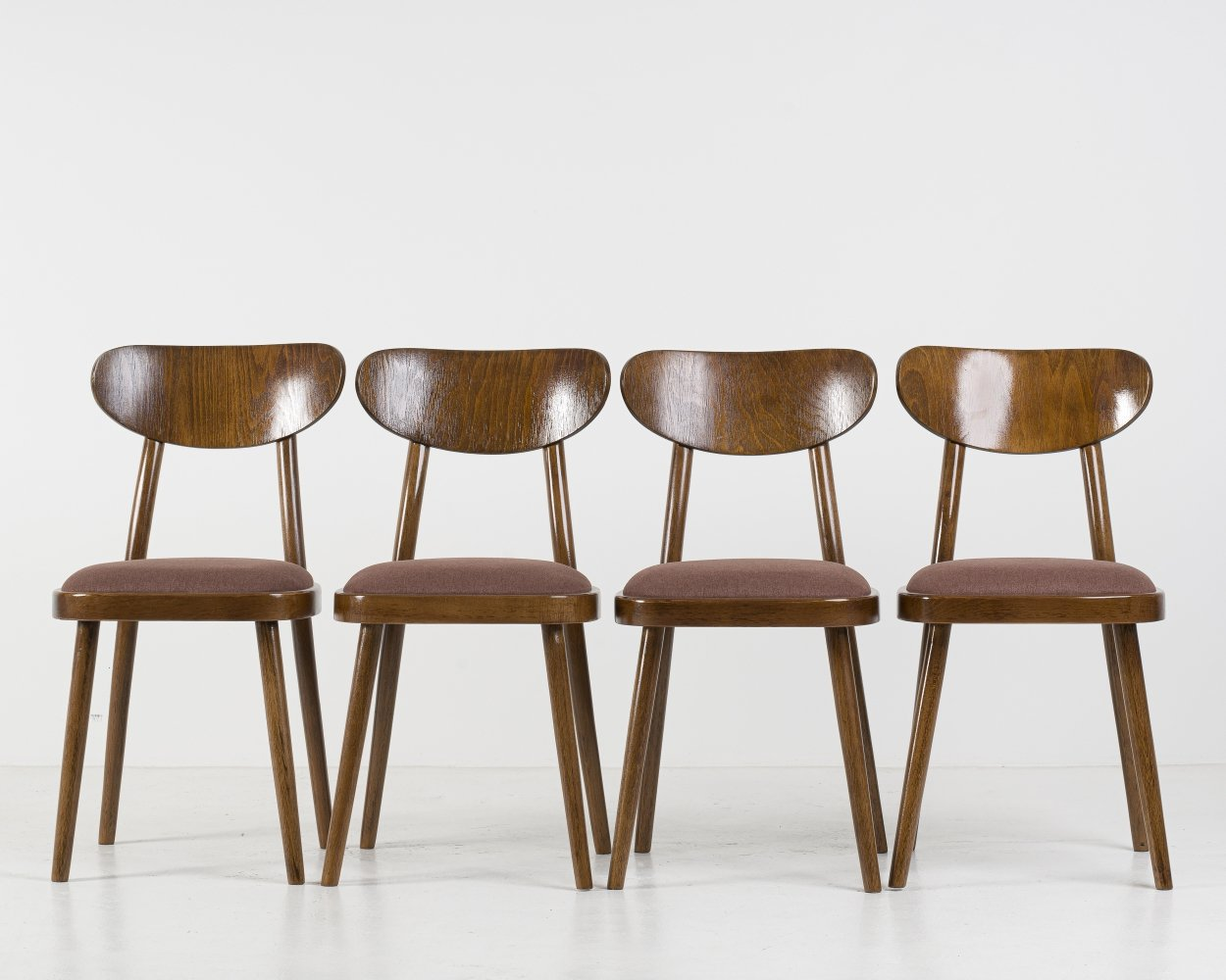 Set of 4 Dining Chairs from TON, 1960