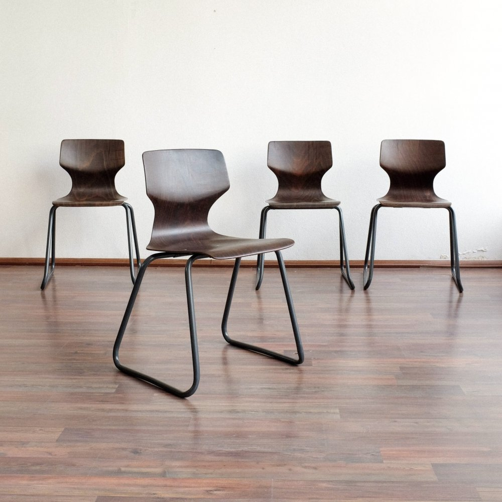 Set of 4 dining chairs by Elmar Flötotto for Flötotto, 1970s