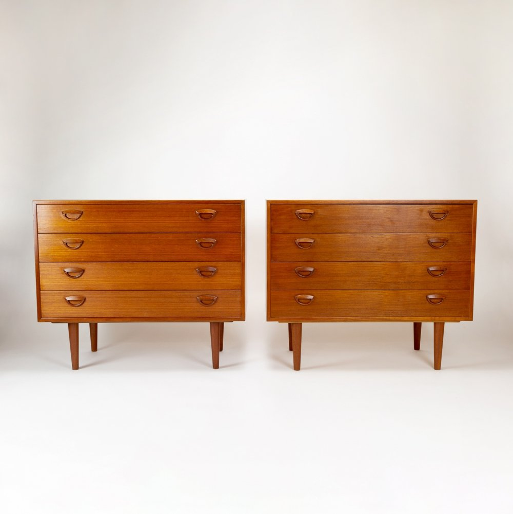 Pair of Chest of Drawers by Kai Kristiansen, 1960s