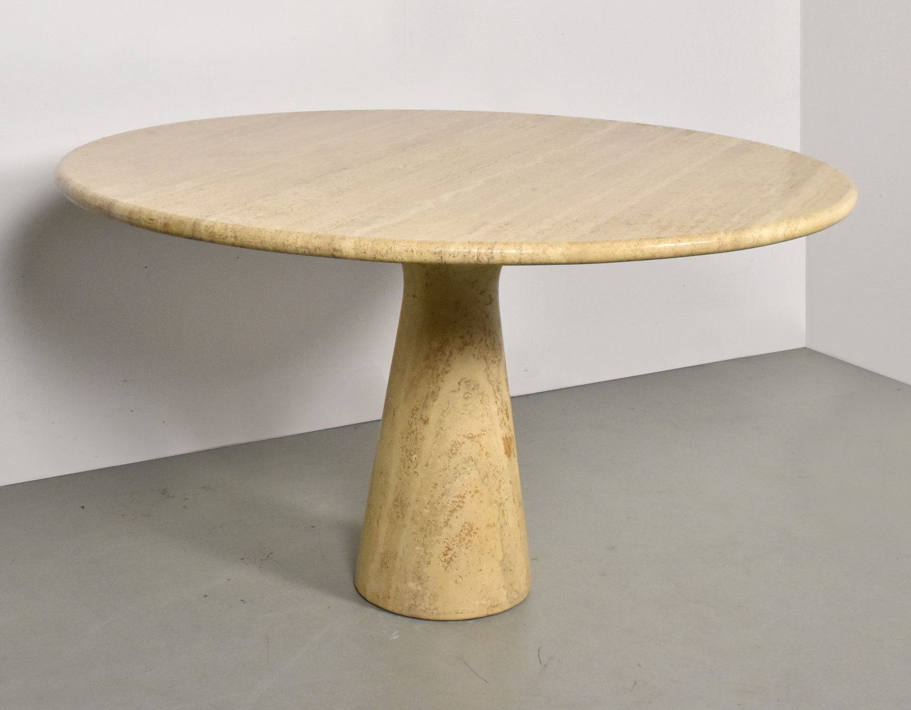 Travertine dining table, Italy 1970s