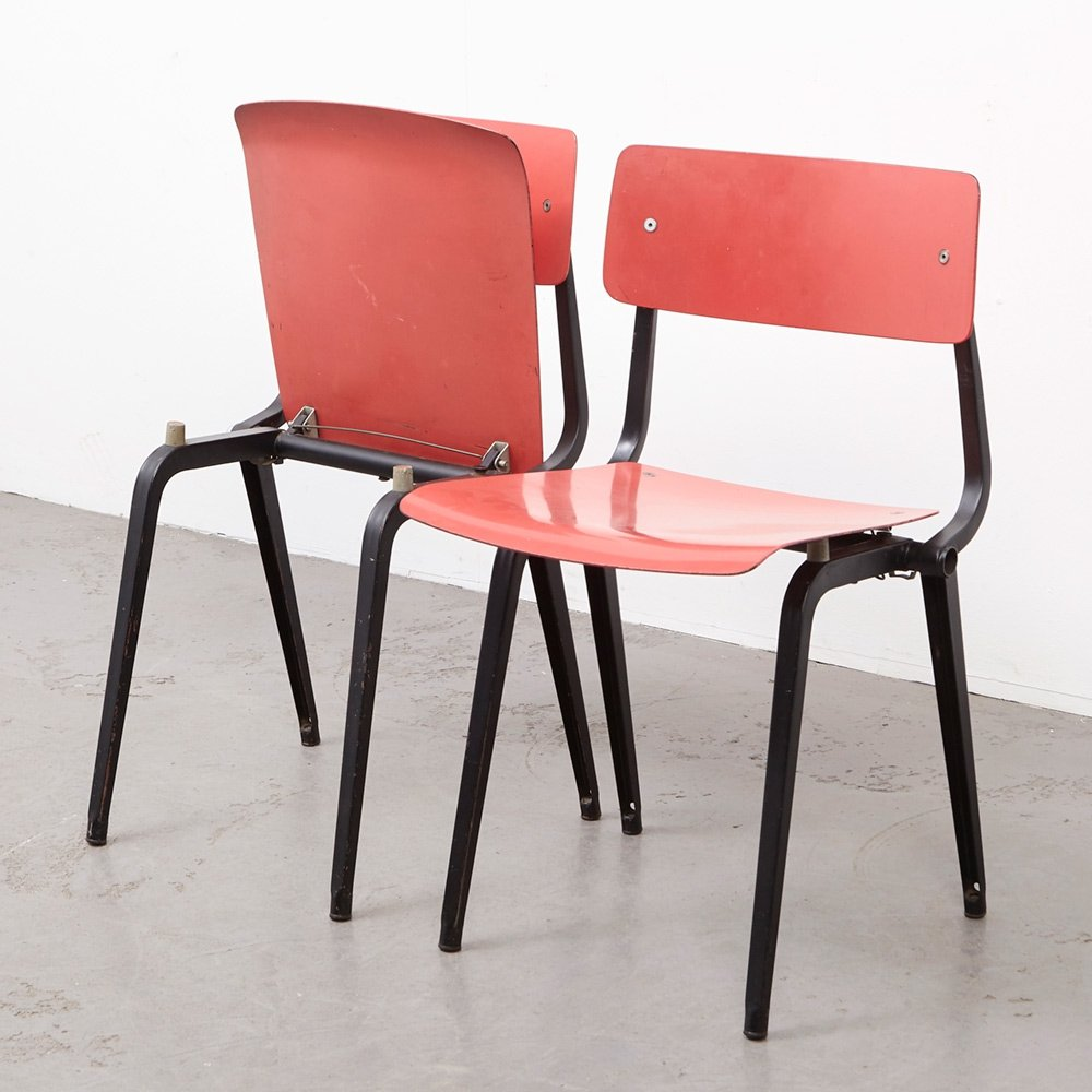 Rare Pair of Theatre Revolt Chairs by Friso Kramer for Ahrend de Cirkel, 1953