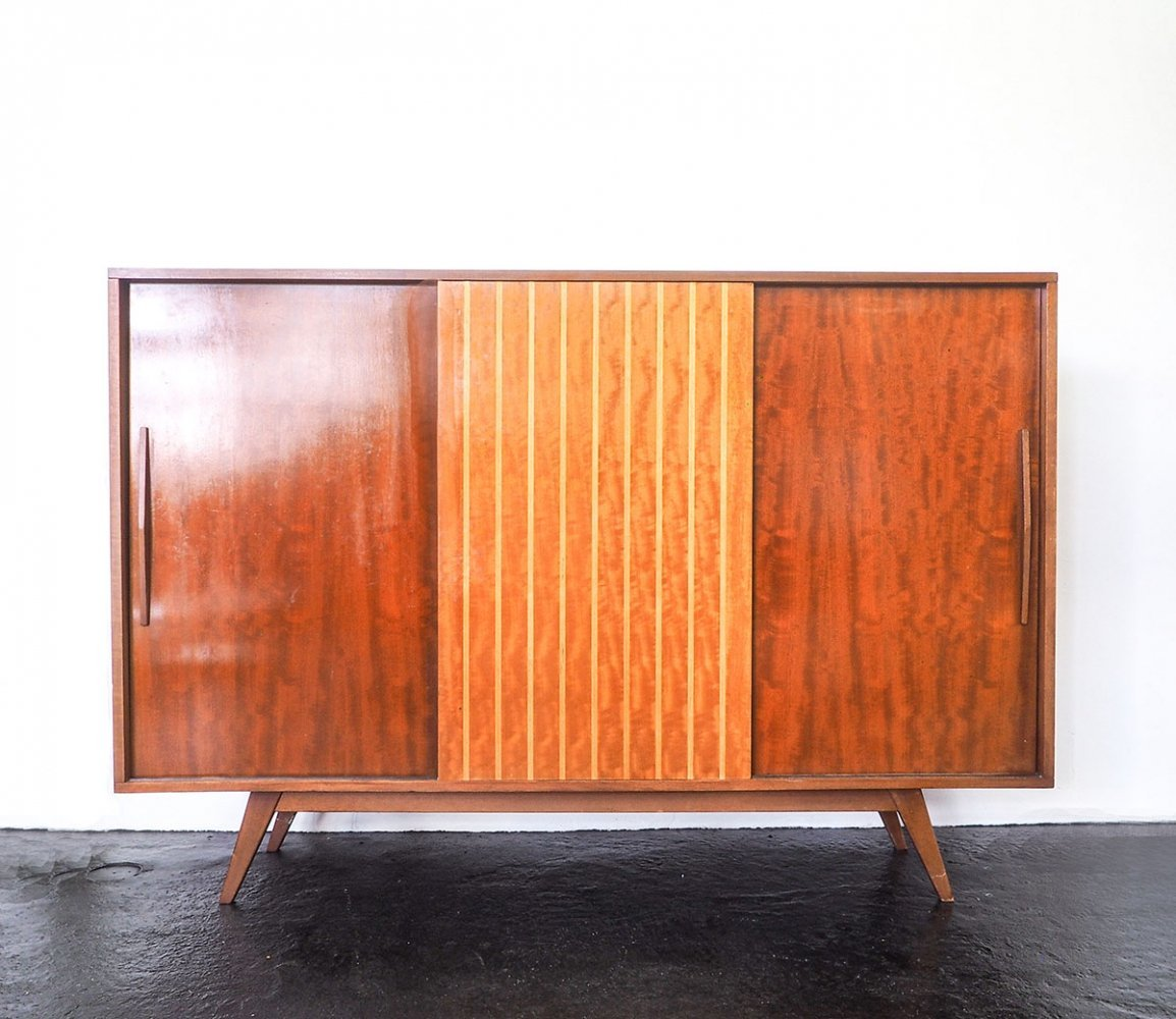 Dutch design highboard with sliding doors, 1960