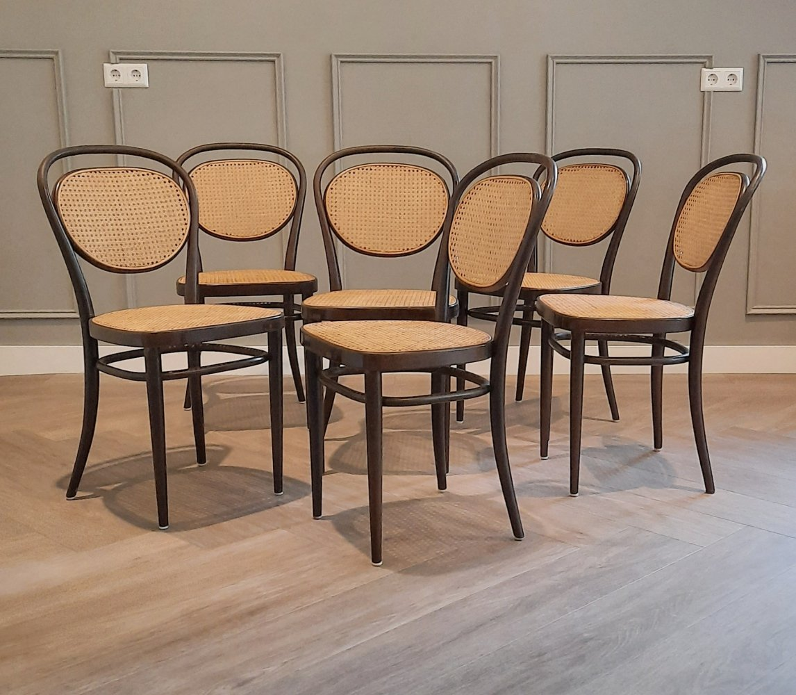 Set of 6 No. 215 R Chairs by Michael Thonet for Thonet, 1977