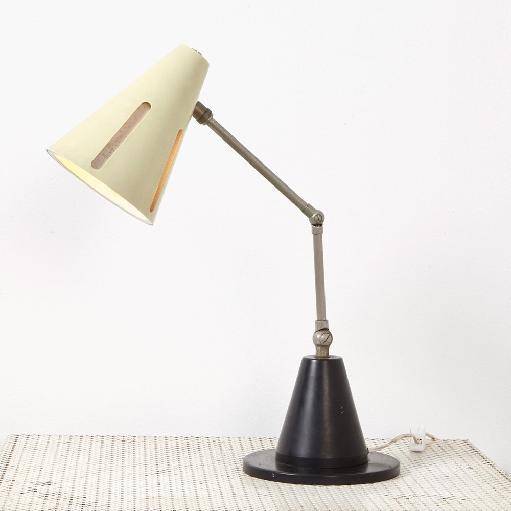 H. Busquet Sunseries Table Lamp Model 7 for Hala, 1950s