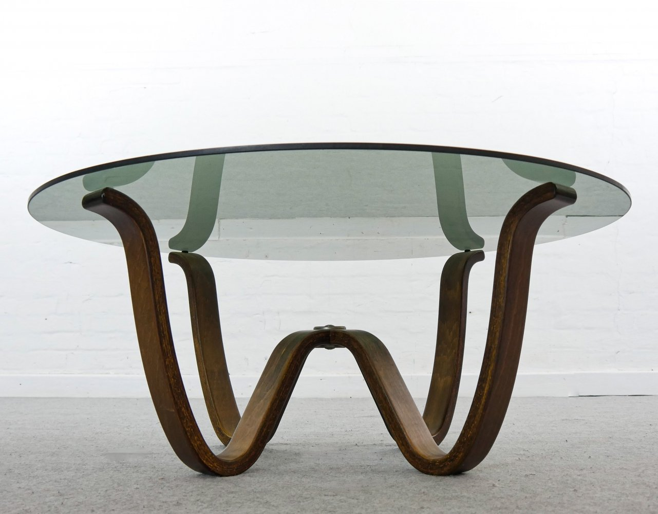 Georg Otto Thams coffee table in bentwood by A/S Vejen, Denmark