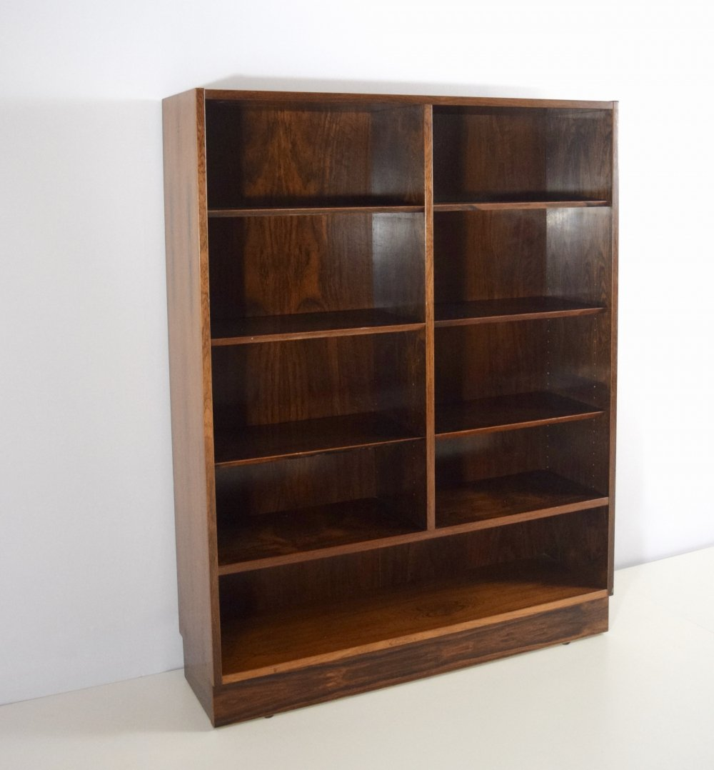 Rosewood Double Bookcase by Poul Hundevad, Denmark 1960