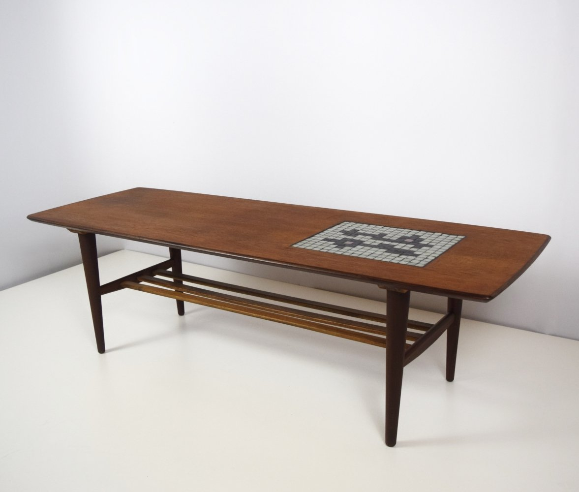 Coffee Table by Louis Van Teeffelen with Mosaic by Jaap Ravelli for Webe, 1950