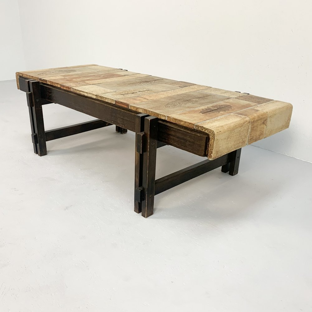 Roger Capron coffee table, 1980