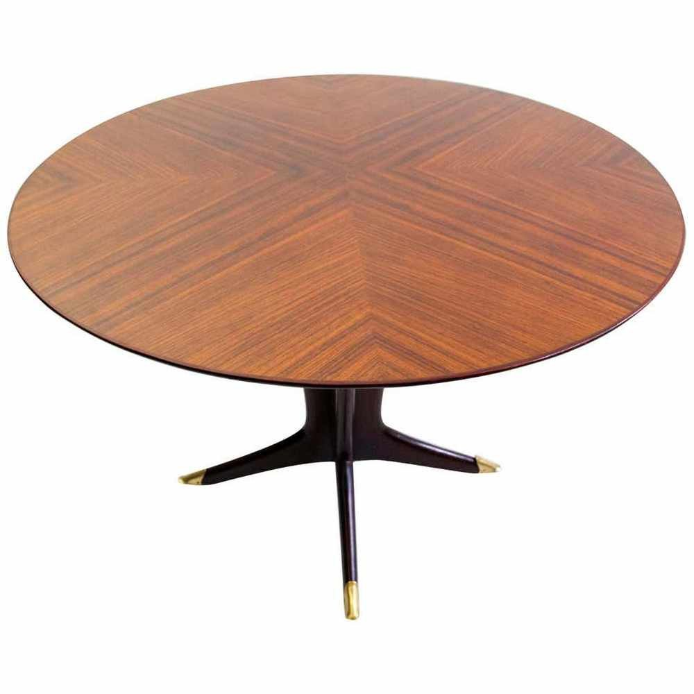 Midcentury Round Dining Table by Vittorio Dassi, Italy 1950s
