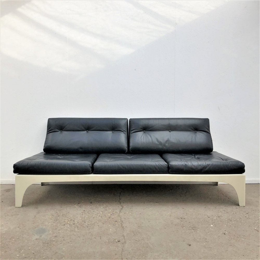 Leather Space Age style daybed, 1960s