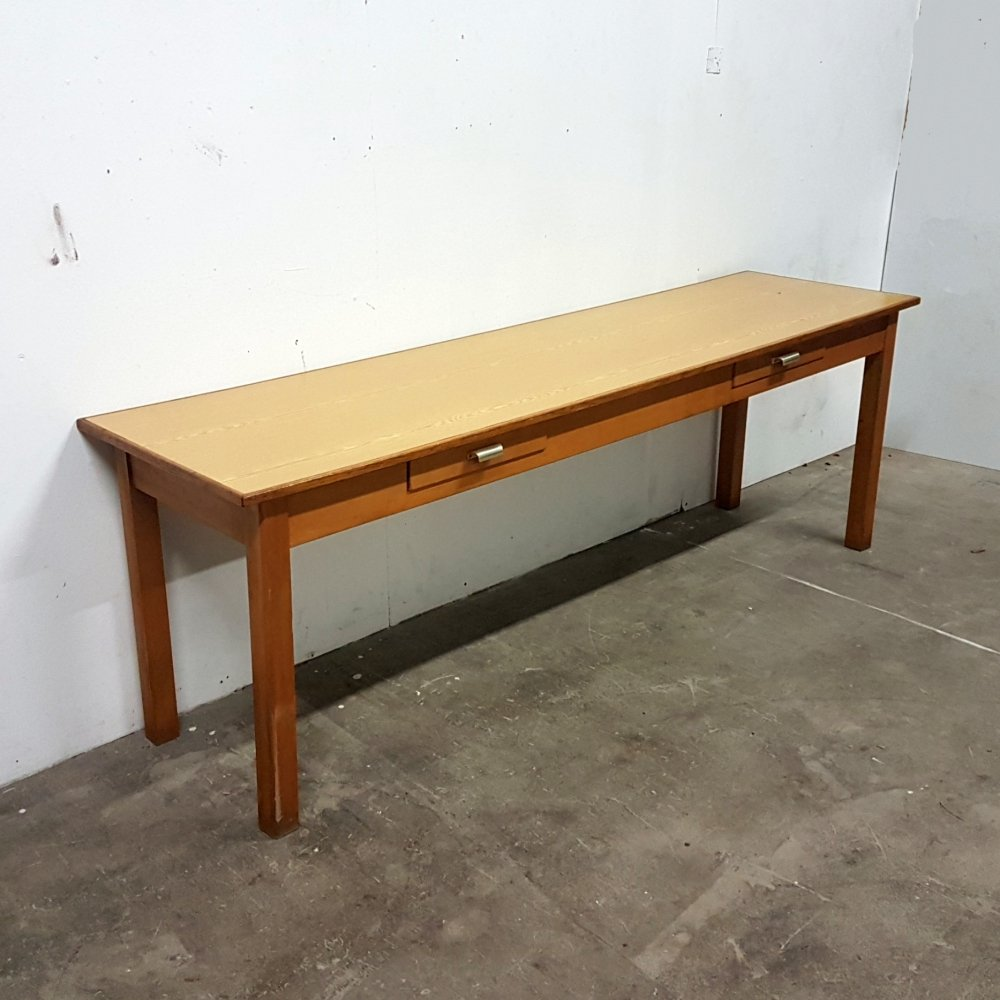 Large wood & formica writing desk, 1960s