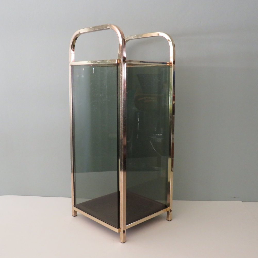 Gold plated umbrella stand by Belgochrom, 1970s