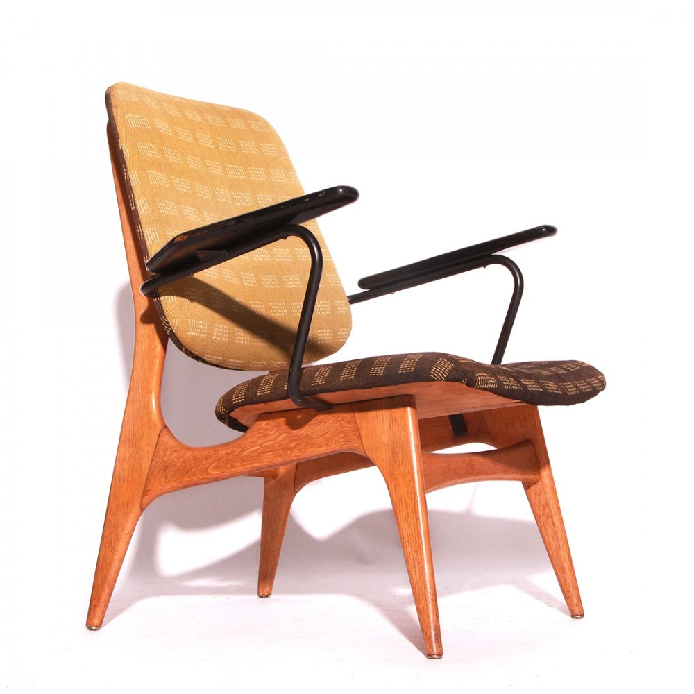 Rare Vintage Lounge Armchair by Louis van Teeffelen for WéBé, 1950s