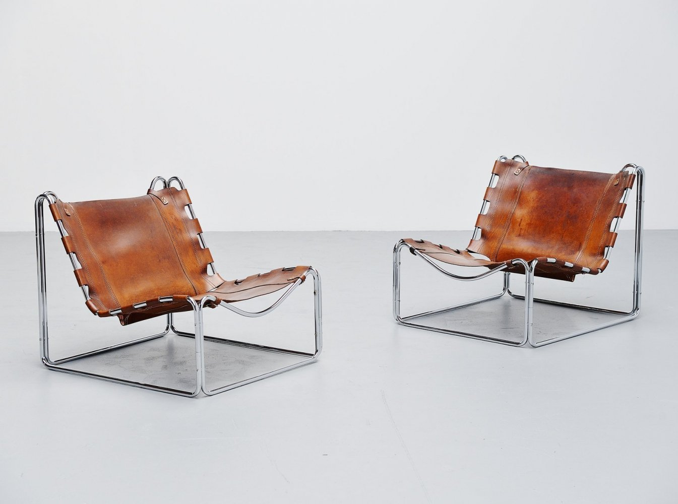 Pascal Mourgue Fabio lounge chairs by Steiner, 1970s