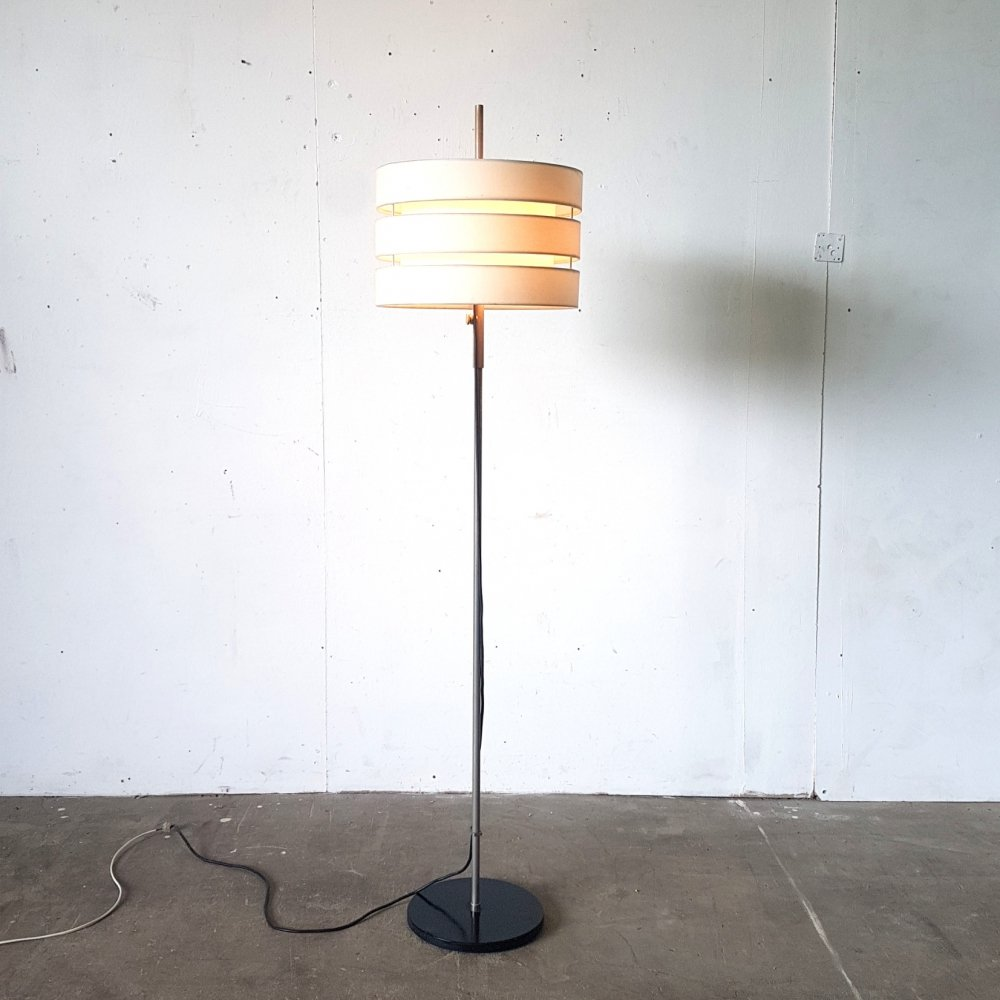 Mid century floor lamp with hand made adjustable shade, 1960s