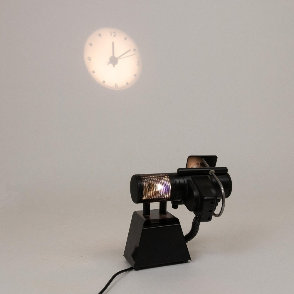 Projection clock by Stephen Savage for Timebeam