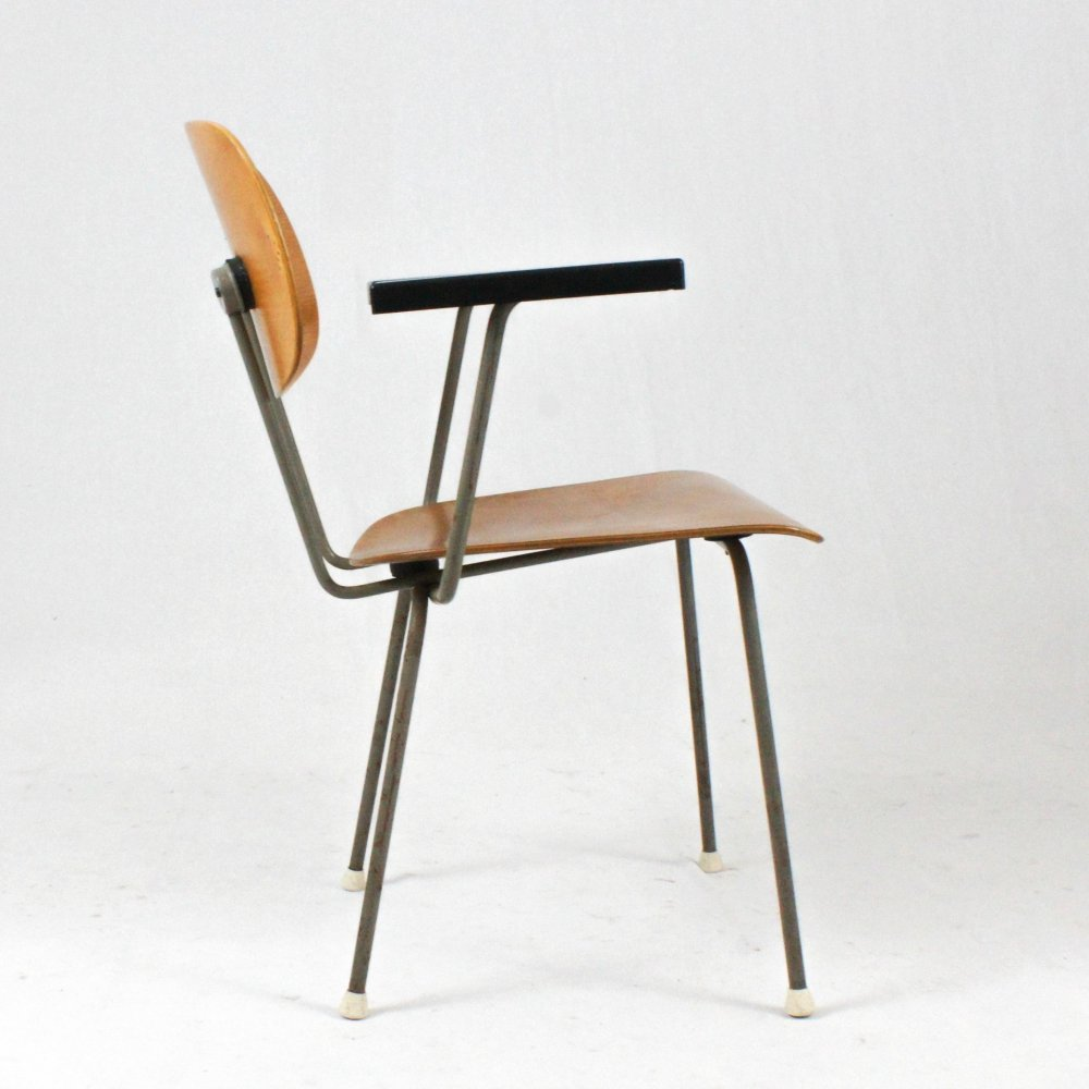 Early model model 216 Chair by Wim Rietveld for Gispen, 1950s