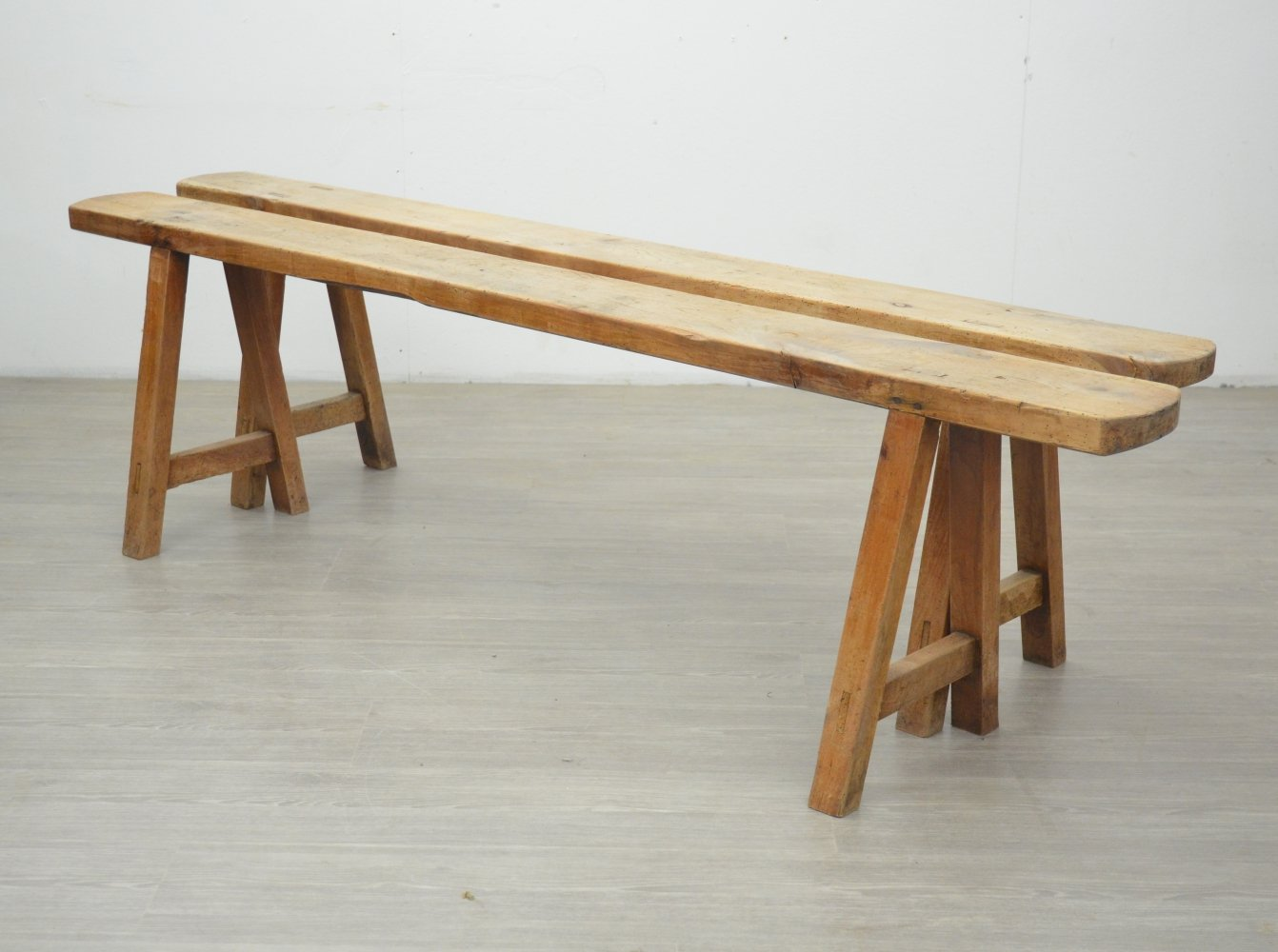 Pair of Vintage Benches
