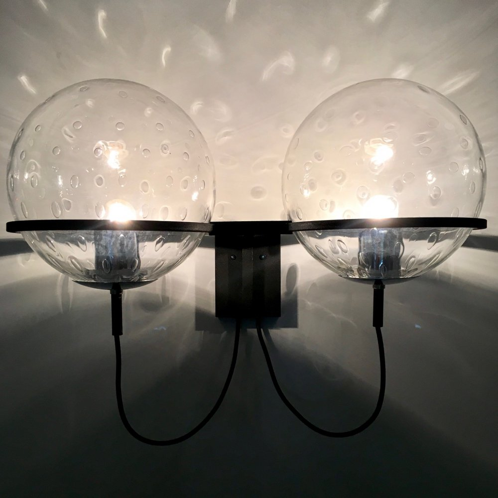 C-1726 Wall sphere duo wall light by Frank Ligtelijn for Raak, 1960s