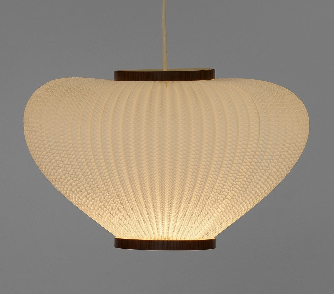 Pearl shade pendant light by Lars Schiøler for Hoyrup Light, Denmark 1960s