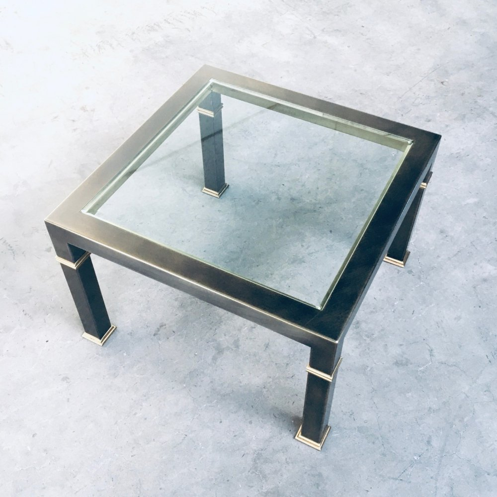 Post Modern Design Brushed Metal Coffee Table by Belgo Chrom, 1980