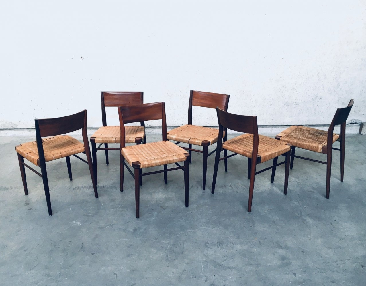 Set of 6 Dining Chairs by Georg Leowald for Wilkhahn, 1955
