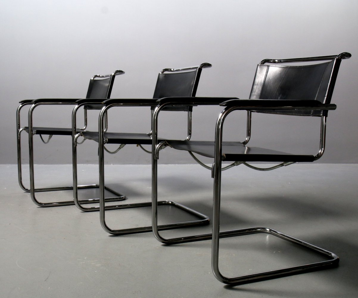 Chair S34 with Armrests by Mart Stam for Thonet
